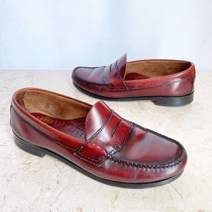Bass Weejuns Shoes Mens 8.5 9 Cordovan Leather